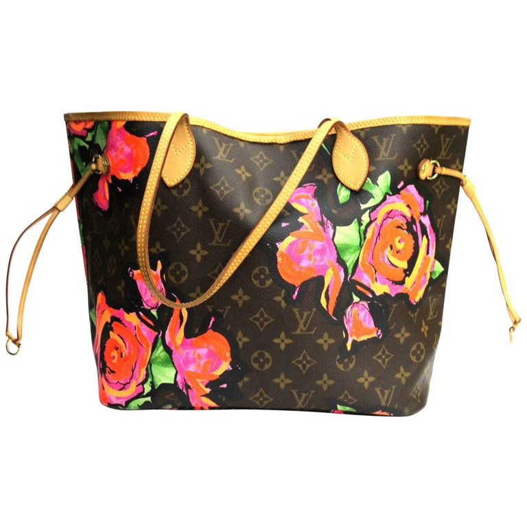 4576bc187e27 LOUIS VUITTON Limited Edition Roses Stephen Sprouse Neverfull MM Bag For  Sale