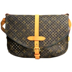 LOUIS VUITTON Limited Edition Monogram Flore Perforated Saumur Bag