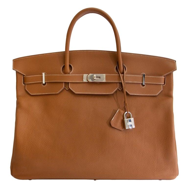 ebe637073624 Hermès Birkin 50 Togo Gold PHW For Sale at 1stdibs