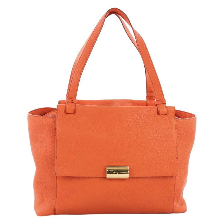 bbdbfc0222 Salvatore Ferragamo Bitter Flap Tote Leather Large For Sale at 1stdibs