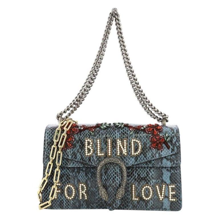 810f8820b93 Gucci Dionysus Handbag Embellished Python Small For Sale at 1stdibs
