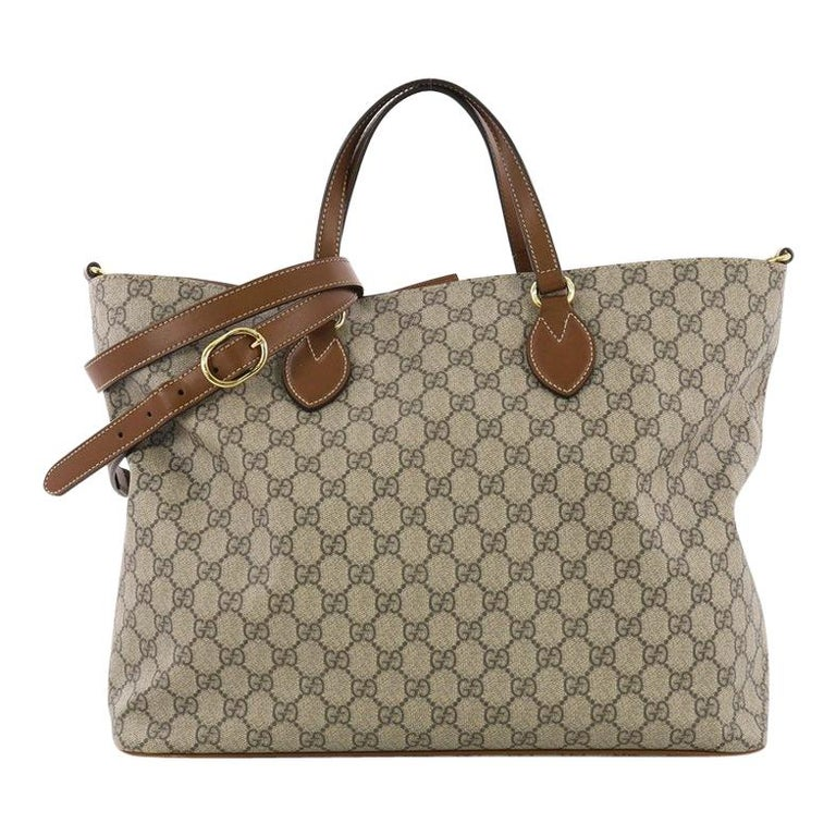 af196d5416b Gucci Convertible Soft Tote GG Coated Canvas Medium at 1stdibs