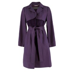 Alberta Ferretti vintage purple belted silk jacket  US 8