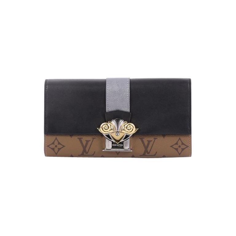 153aa5d134aa Louis Vuitton Column Clutch Reverse Monogram Canvas with Calf Leather For  Sale at 1stdibs