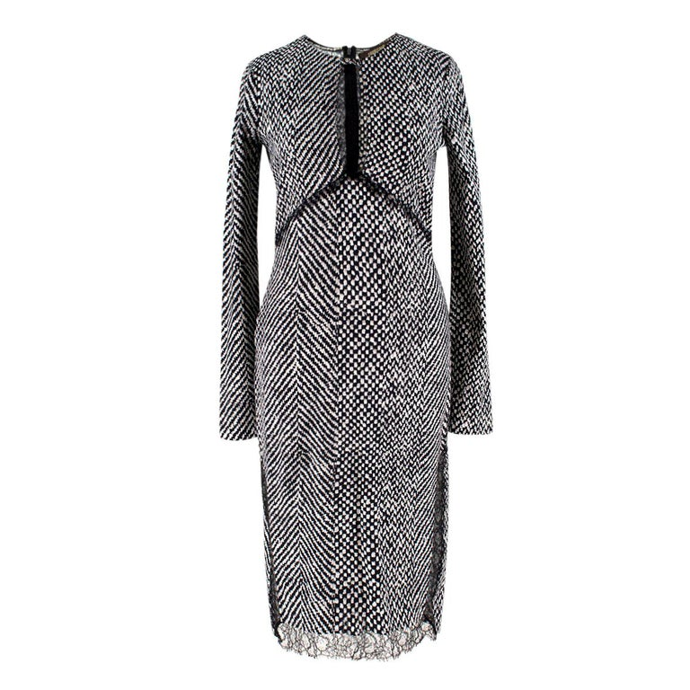 8e7838e9a7 Roberto Cavalli lace-insert tweed dress US 4 For Sale at 1stdibs