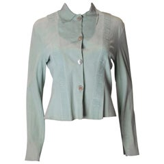 Vintage Peppermint Green Suede Shirt