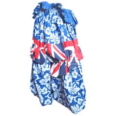 Comme des Garcons Printed Skirt with Leg Holes