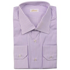 NEW Brioni Pink Striped Dress Shirt REG FIT 100% Cotton EU39//US15.5