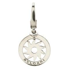Bvlgari Tondo Sun Sole 18k White Gold Charm Pendant