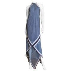 Valentino Silk Halter Maxi Dress
