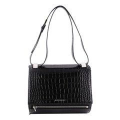 Givenchy Pandora Box Handbag Crocodile Embossed Leather Medium