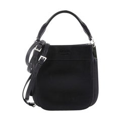 Prada Margit Hobo Bag Leather Small