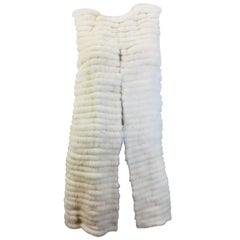 Vera Wang Collection Mink Open Front  Vest
