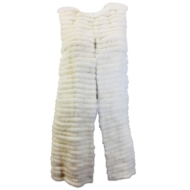 Vera Wang Collection Mink Open Front  Vest For Sale