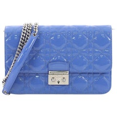 Christian Dior Miss Dior Promenade Pouch Cannage Quilt Patent Large