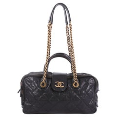 Chanel Shiva Bowler Bag Quilted Caviar