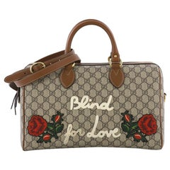 Gucci Convertible Boston Bag Embroidered GG Coated Canvas Medium