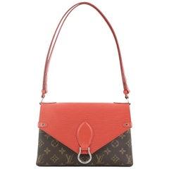 Louis Vuitton Saint Michel Handbag Monogram Canvas and Epi Leather