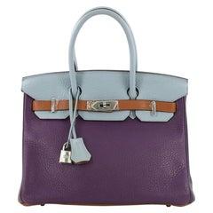 Hermes Birkin Handbag Arlequin Clemence 30