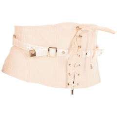 Tom Ford Womens Blush Pink Cotton Lace Up Waist Cincher Size IT40/US4