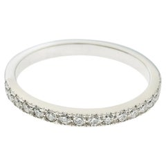 Tiffany & Co. Soleste Diamond Platinum Half Eternity Wedding Band Ring Size 54