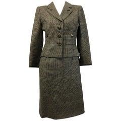 Oscar de la Renta 2 PC Cashmere Nailshead Skirt Suit