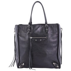 Balenciaga Papier A5 Zip Around Classic Studs Handbag Leather