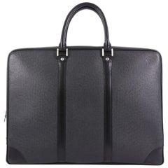 Louis Vuitton Vintage Porte-Documents Business Bag Taiga Leather,