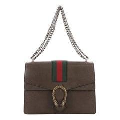 Gucci Web Dionysus Handbag Leather Medium