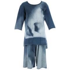 Vivienne Westwood Marlene Dietrich print jersey shorts and t-shirt set, A/W 1992