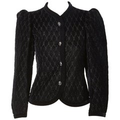 Yves Saint Laurent Rive Gauche Quilted Velvet Jacket