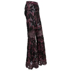 New Tom Ford for Gucci AD F/W 1999 Super Rare Hot and Sexy Lace Silk Pants 42
