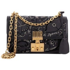 Christian Dior Dioraddict Flap Bag Embellished Leather Small
