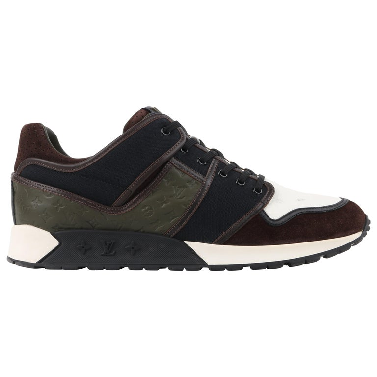 """LOUIS VUITTON A/W 2012 """"Upside Down"""" LV Monogram Patchwork Low Top Sneakers For Sale"""