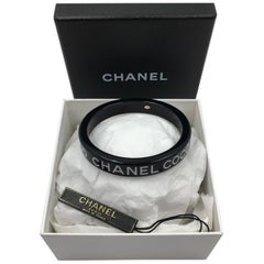 Chanel Black Logo Bangle - Coco Chanel Coco Chanel Coco Chanel