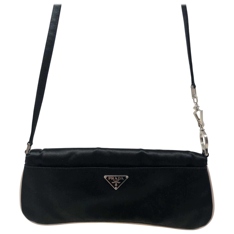 b6deb9954968 Prada Satin Shoulder Bag  Clutch at 1stdibs