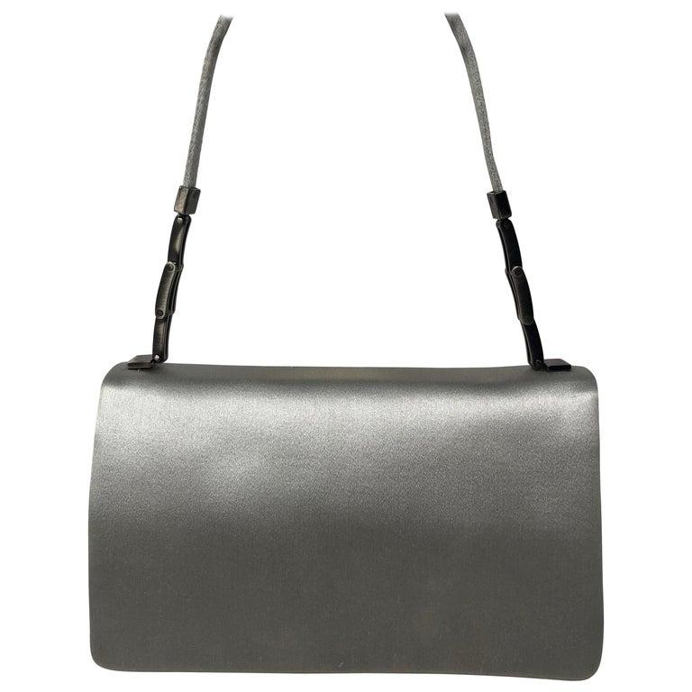 43968fb8580a Giorgio Armani Silver Silk Bag For Sale at 1stdibs