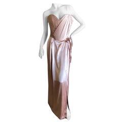 "Vivienne Westwood Gold Label Rose Pink ""Dalma"" Silk Satin Evening Dress NWT UK12"