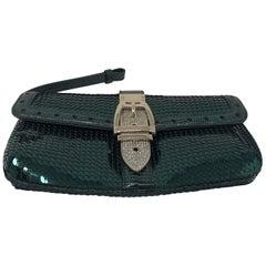 Gucci Green Sequin Clutch