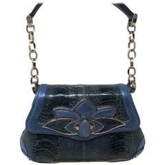 Judith Lieber Blue Evening Bag Croc