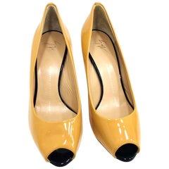 Giuseppe Zanotti Ginger Cowhide Leather Fish Beak Shoes Size 36