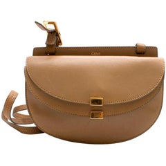 Chloe Beige Leather Georgia Cross Body Bag