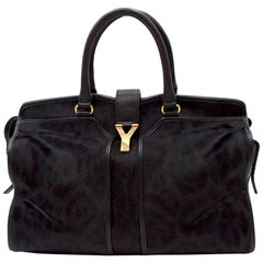 Saint Laurent Black Pony Hair Chyc Tote