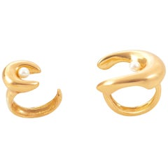 Giulia Barela 24 Karat Gold Plated Bronze Double Brancusi Ring