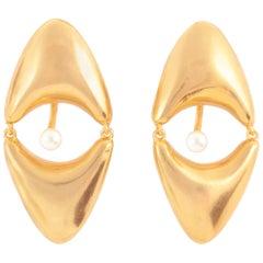 Giulia Barela 24 karat Gold Plated Bronze Brancusi Earrings