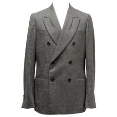Yves Saint Laurent Double Breasted Blazer Size IT 52C - XL