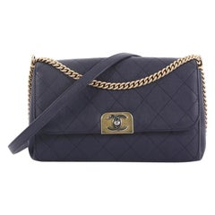 Chanel Straight Lines Flap Bag Quilted Calfskin Medium