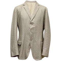 Bottega Veneta Beige Patterned Blazer