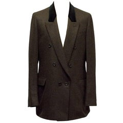 Yves Saint Laurent Double Breasted Brown Blazer Size IT 52R