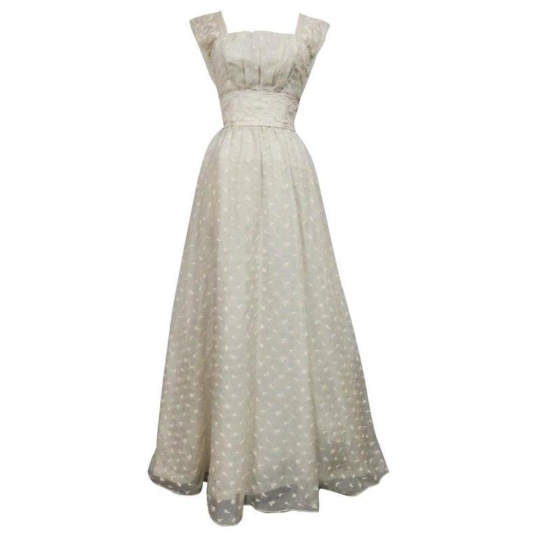 Lanvin CastilloCouture Ball Gown from Baroness de Rothschild circa 1957 For Sale
